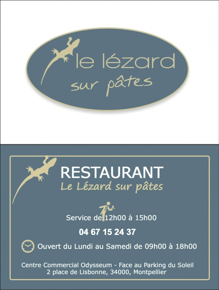 Photo Le Lézard sur pâtes
